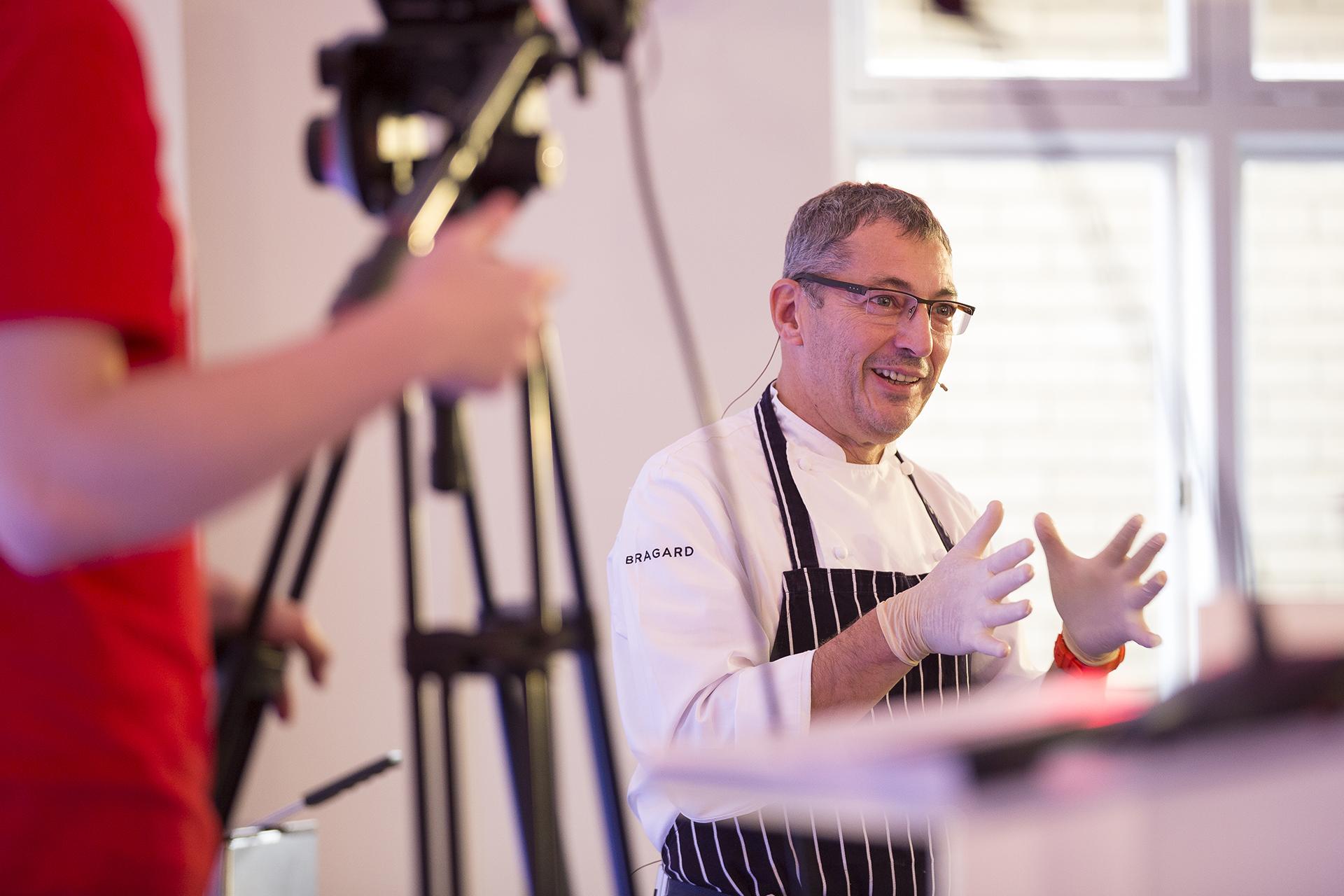 Daniel Galmiche, TV chef at Salon Culinaire 2016 Ascot Racecourse