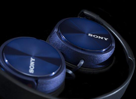 Sony headphones - blue