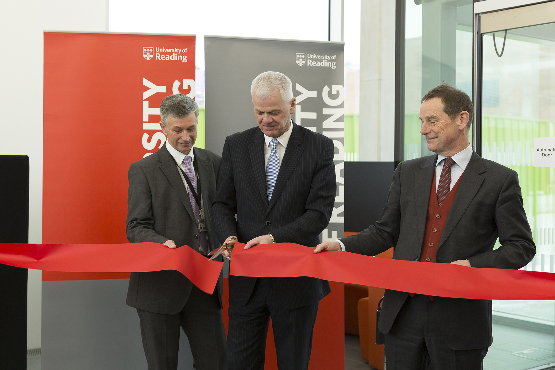 Thames Valley Science Park Opening Ceremony - ribbon cutting